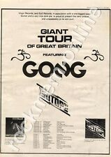 Gong You Isotope Huddersfield Polytechnic MM4 LP/Tour Advert 1974