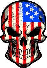 "#488 4"" USA American America Murica Merica Flag Skull Sticker Decal"