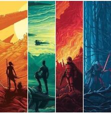 Star Wars VII 7 Force Awakens AMC IMAX COMPLETE RARE POSTER SET OF 4 - JEDI