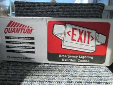 Lithonia Quantum Emergency Exit sign green/red light New (old stock) battery/AC