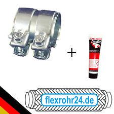 Auspuff Rohrverbinder Doppelschelle Schelle mit Montagepaste Ø 55 x 80mm NEU