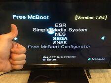 FMCB 1.94 PS2 8MB Sony Brand Memory Card + NES, SNES, GENESIS Emulators