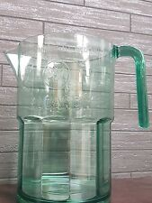 2 X Bacardi plastic green mixing Jug/ Cocktails/ Alcohol/ Mixer/ Pub/ Bar New
