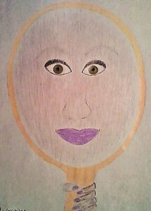 DRAWING - 'YOU!' - COLORED PENCIL ON SKETCH PAD - ANIMATED  - FREE SHIPPING!!!