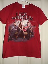 Lady Antebellum-  Own The Night Red Concert T-Shirt Size Small- FREE SHIPPING