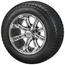 Set of 4 - 215/50-12 Tire on a 12x7 Gunmetal Tempest Wheel w/FREE Freight