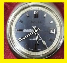 Sicura Breitling AUTOMATICO sub vintage 1960-70 QUADRANTE TAPISSERIE