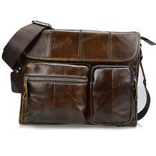 Handmade Large Genuine Leather Men's Handbags Brown Messenger Bags Briefcase