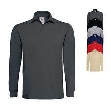 B&C Damen Herren Poloshirt Polohemd HEAVYMILL LONGSLEEVE Langarm Neu PU423