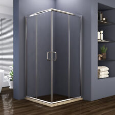 "ELEGANT 36"" x 36"" x 72"" Sliding Glass Shower Enclosure Door Corner Chrome Finsih"