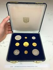 More details for 1972 mixed jersey gold & silver wedding proof set - 9 coins, lot #3
