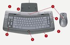 Wiederaufladbare kabellose Tastatur- & Maus-Sets für Computer mit Bluetooth