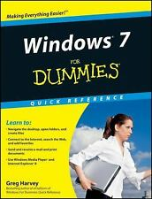 Windows 7 for Dummies Quick Reference, Greg Harvey, Good Condition, Book