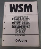 "KUBOTA Workshop Manual ""BG"" SERIES Diesel Engines                    USA SELLER"