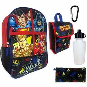 New Justice League 5 Piece Backpack Set