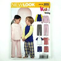 New Look Pattern · 6932 · Size A 1/2-8 · Toddler Childrens Pajamas