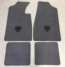 Autoteppich Fußmatten für Lancia Fulvia Sport Zagato Grau schwarz 1965-70 Velour