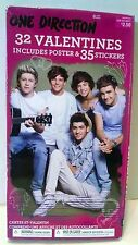 One Direction 1D Valentines Cards Box Set 32 w/ Poster Stickers Liam Harry Zayn