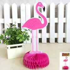 2 HONEYCOMB FLAMINGO CENTREPIECE LUAU HAWAIIAN PARTY ALICE MAD HATTER TEA PINK