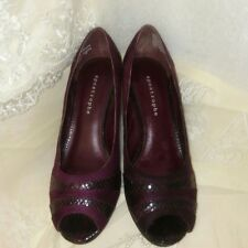 Apostrophe Womens Purple Sparkle Open Toe Suede Heels Size 9.5