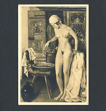 Anton Lutz JUGEND / YOUTH Akt Malerei Washing Nude Woman * Vintage 30s HDK RPPC