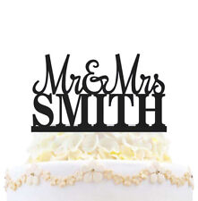 Mr & Mrs Wedding Cake Topper Personalized With Last Name Love Party Decoration