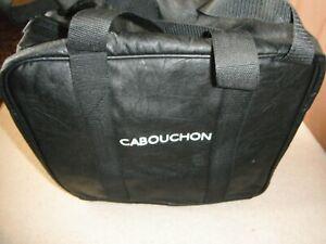 NEW=CABOUCHON LARGE BLACK BAG