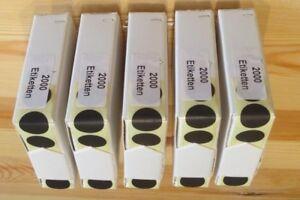 Kombipackung Schusspflaster je 2.000 Stück (Beige + Schwarz) Markierunspunkt