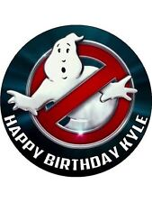 "Ghostbusters Logo 7.5"" Rice Paper Birthday Cake Topper"