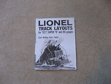 1962 LIONEL TRAINS TRACK LAYOUT FLYER FOR 027, SUPER 0 and HO GAUGES  REPRINT