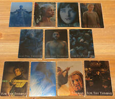 Game of Thrones Season 8 For the Throne metal cards set 11 cards Complete Set