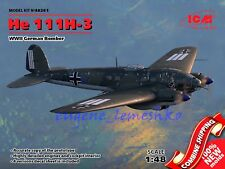 "ICM 48261 "" Heinkel He 111H-3, WWII German Bomber "" Plastic Model Kit 1/48"
