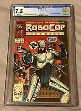 RoboCop The Future Of Law Enforcement #1 CGC 7.5 White Pages Marvel Comics 3/90
