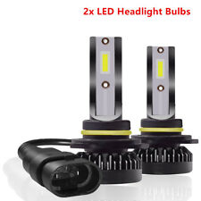 Pair 9012 HIR2 LED Headlight Bulb High/Low Beam Kit 72W 6000K COB REE Flip Chip