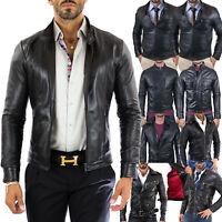 PROMOZIONE Giacca Giubbotto in di Vera Pelle Uomo Men Leather Jacket 60 Modelli
