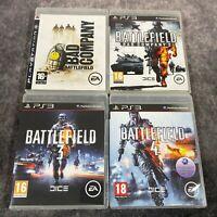 Battlefield Bad Company 1 & 2 + Battlefield 3 & 4 PS3 PlayStation 3 Game Bundle