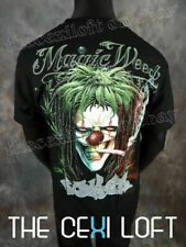 Mens Graphic T-Shirt in Black Joker with Joint Magic Weed Slim fit