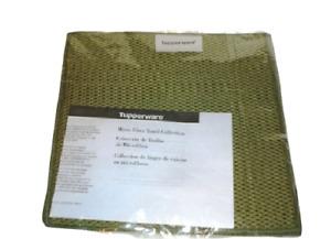 Tupperware MICROFIBER Dish Cloth SET OF 2 NEW Lettuce Green