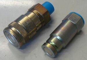 Quick Release Breaker Flat Face Coupler & Plug 3/8 x 3/8npt 700 Bar