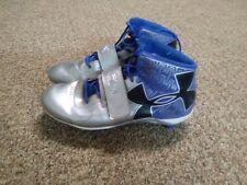Under Armour C1N Cam Newton Blue & Silver Football Cleats Mens 13