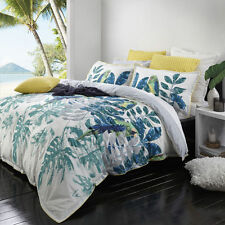 Logan and Mason DAINTREE FERN Tropical King Size Bed Doona Duvet Quilt Cover Set