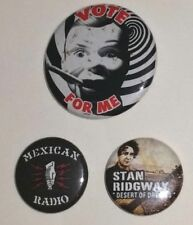 STAN RIDGWAY PINBACK PIN BUTTON SET 3 MEXICAN RADIO DESERT OF DREAMS TOUR 2010