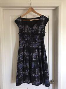 Kew 159 Black And Navy Dress - UK Size 10