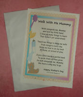Fathers Day Birthday Gift Walk With Me Mummy Daddy Poem Bag & Card Mum Dad To Be