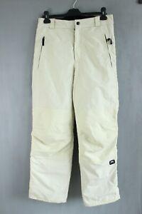 Maui-Wowie Creamy White Waterproof Men Skiing Trousers Size 48 EU S