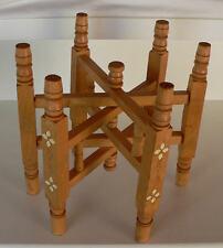 Pied ciseaux dépliable en bois vernis