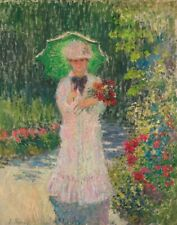 Claude Monet Camille With The Green Parasol Canvas Print 16 x 20   #4052