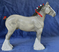 Black Horse Ranch (BHR) RESIN Grey Clydesdale Stallion - from Collector's Estate