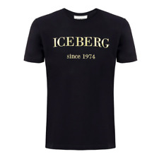 Iceberg Since 1974 Colour Logo T-shirt in Black RRP£125