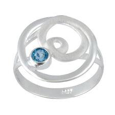 Echte Edelstein-Ringe im Band-Stil aus Sterlingsilber mit Topas